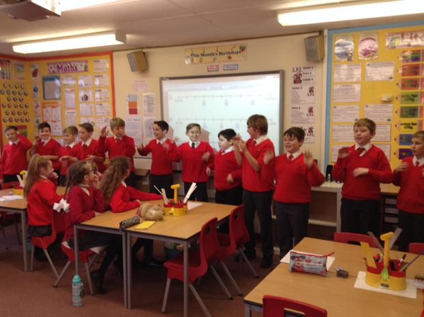 Performing a song from the Lion King in Music