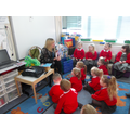 Sharing a book about looking after our teeth