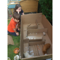 Sophie Y4 and William Y2 built an obstacle course