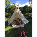 A Stone Age teepee by Charlotte in Year 3