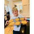 Will in Year 4 making biscuits