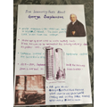 George Stephenson poster by Lily R, Year 2