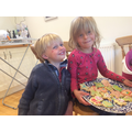 Margot in EYFS baking biscuits