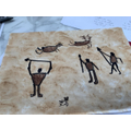 Stone Age artwork by Lucy in Year 4