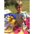 Margot in EYFS decorating cakepops