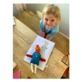 Hallie in EYFS designed and made a doll