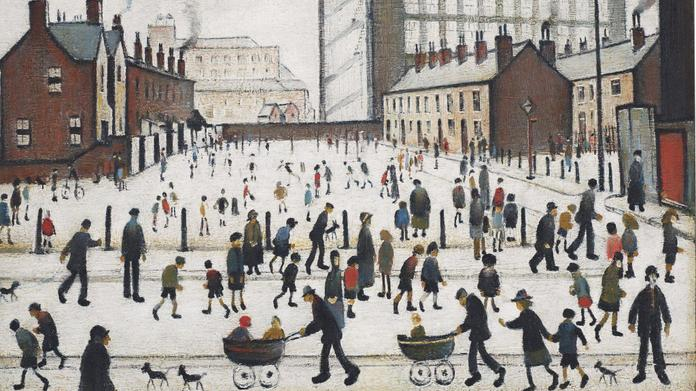 The Mill, Pendlebury by L.S. Lowry