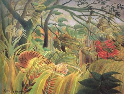 Tiger in a Storm by Henry Rousseau