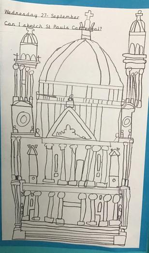Sketch of the cathedral
