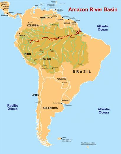South America and the Amazon Basin