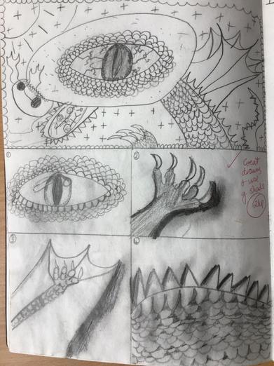 Planning dragon art
