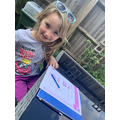 Evie's outdoor maths