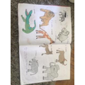 Evie's animal home learning