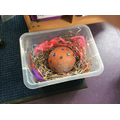 We made a nest for the egg.
