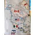 Caleb's map of North America