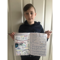 Olly's poster and instructions for baking cakes
