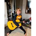 Guitar practice.