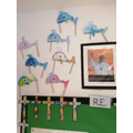 Our RE display with Whales representing Jonah's story
