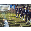 Year 2 created the Great Fire of London in the playground