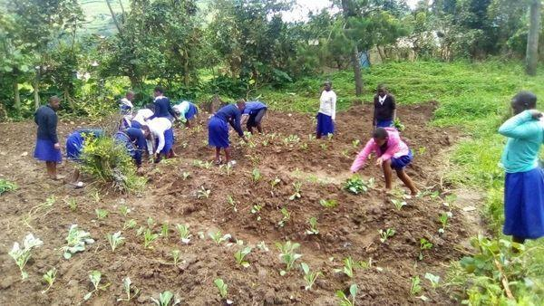 Children at St. Peter's Rubuguri Primary School