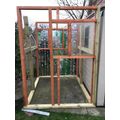 The greenhouse has started to take shape.