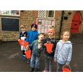 Collecting money for Sport Relief