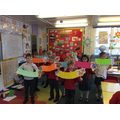 Our beautiful dragon puppets