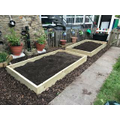 We recycled old soil for these new vegetable beds!
