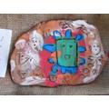 Aztyec-style pottery.