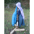 An old Christmas tree trunk became a coat stand!