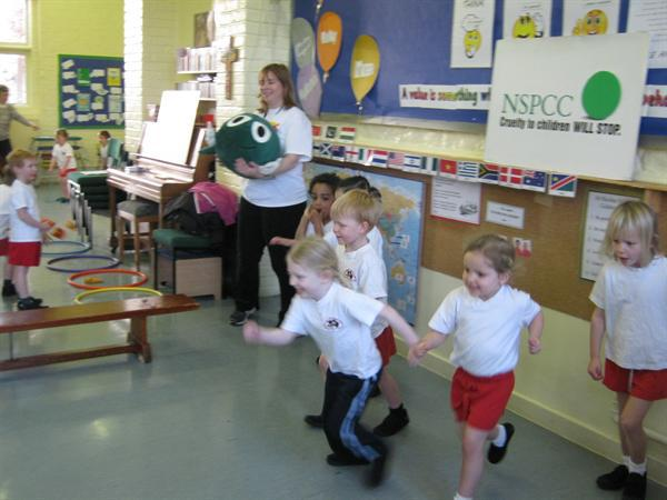 Mandy and Buddy from the NSPCC needed our help