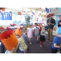 Dancing the Mexican Hat Dance at our party