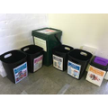 These are the recycling bins for the resource room