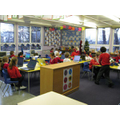 Cherry Class (Yr 1 / 2) busy on the laptops...