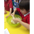 Making bread for our Shabbat picnic