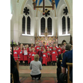 Singing at the Christmas Service
