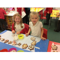 Decorating our gingerbread