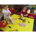 Making homes for Stone Age dolls