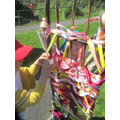 Weaving our beautiful archway