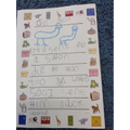 We wrote a page for our class 'Dear Zoo' book!