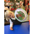 We made autumn leaf suncatchers