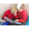 Enjoying sharing books