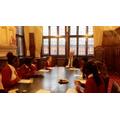 Enjoying quizzing the Lord Mayor