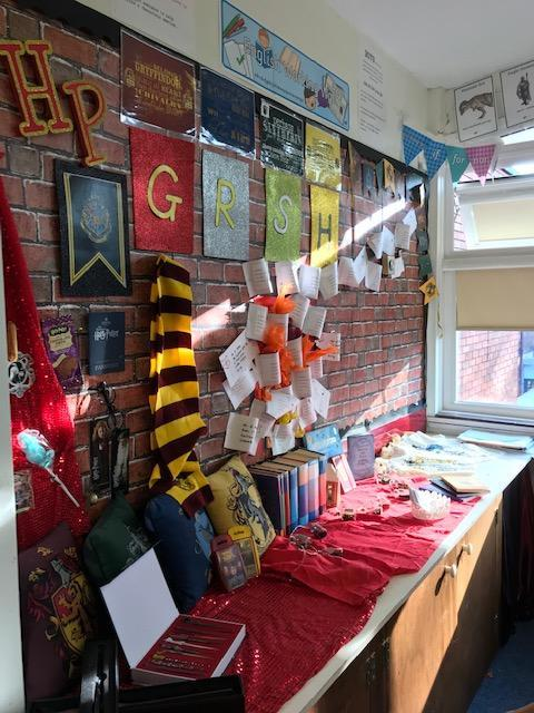 Our class display of Harry Potter!