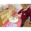 Using the funky finger table - fine motor practice