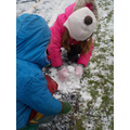 Making a mini snowman