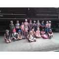 Group photo from the engine shed
