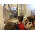 We loved watching chocolate being moulded.