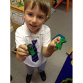 We made dinosaur models