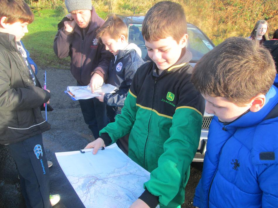 Using a map to locate the field site